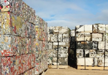 Recycled metal at our Geraldton yard